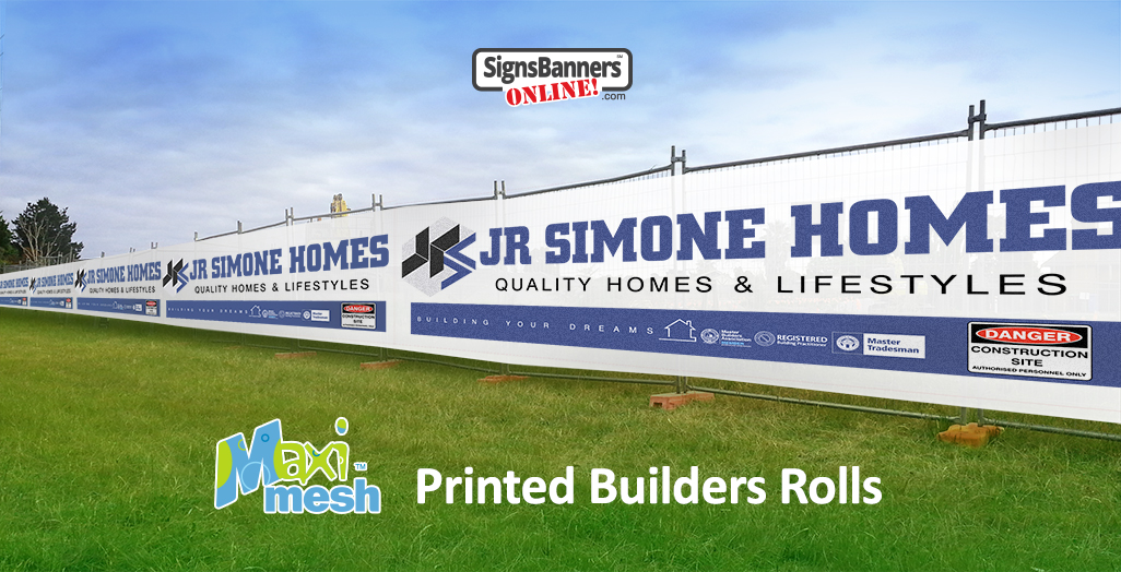 Temporary Fencing covers printed builders rolls of mesh banner signs and banners
