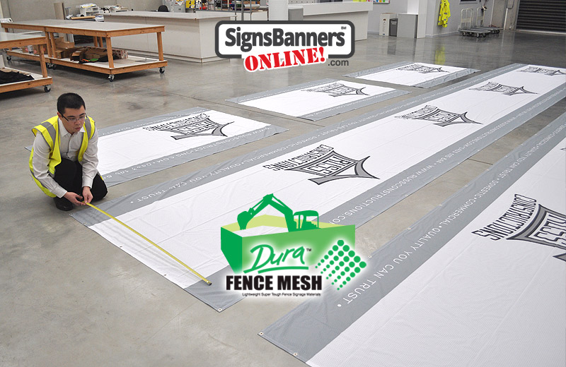 Various outside banner signs