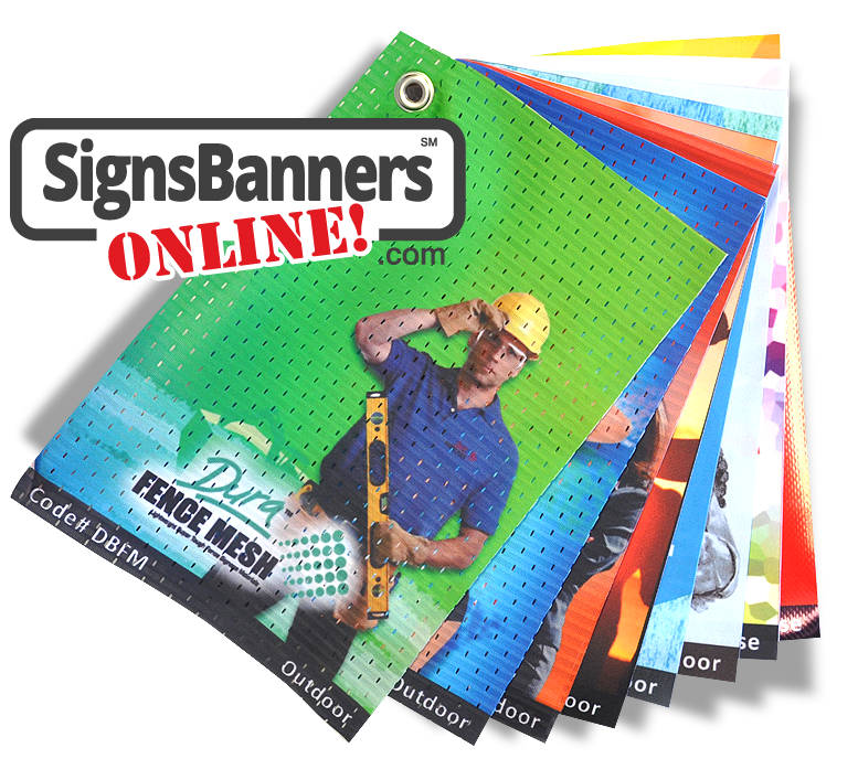 Choose from various signage material options