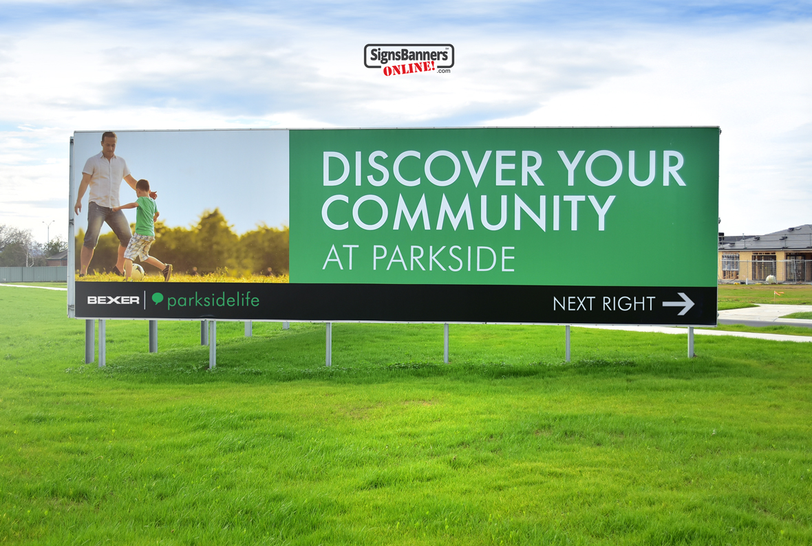 Freestanding billboard sign for vacant land development and new housing estate signage