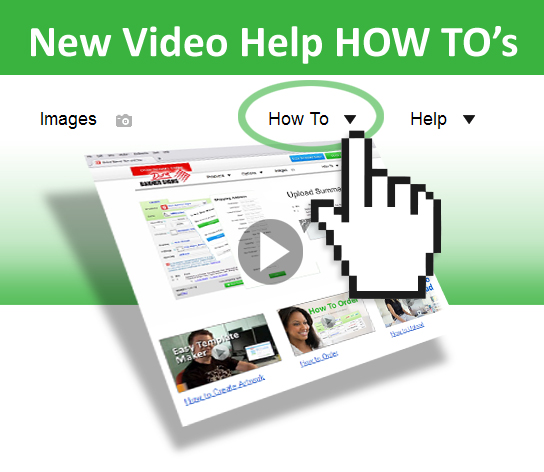 New videos for help HOW TO ... artwork... order... upload