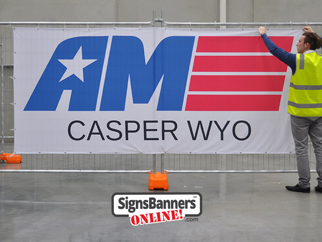 Wyoming - Banner signs for rental fence lengths