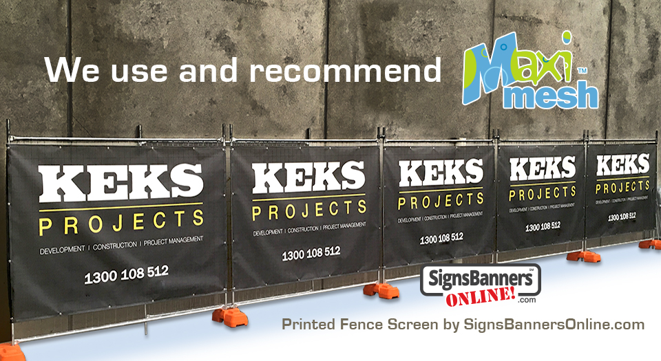We use and recommend new mesh banners