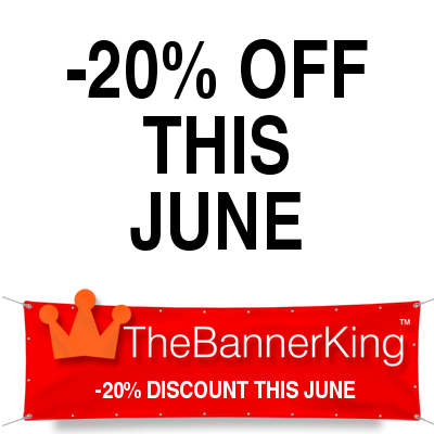 discount banner sign