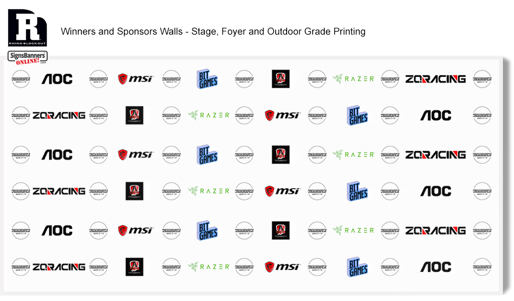 White version. Winners and Sponsors Walls