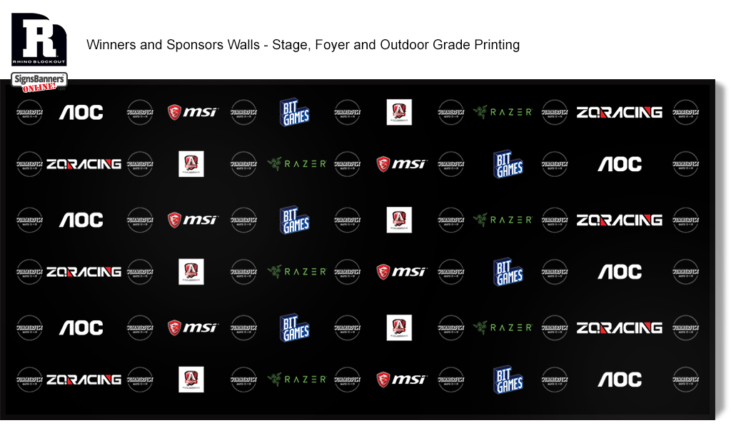 Winners and Sponsors Walls