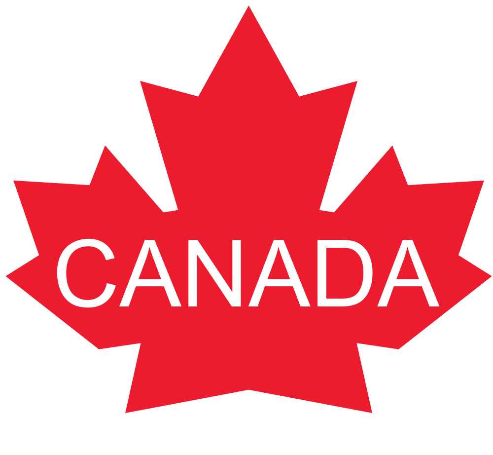 Canada Maple Leaf with white text CANADA