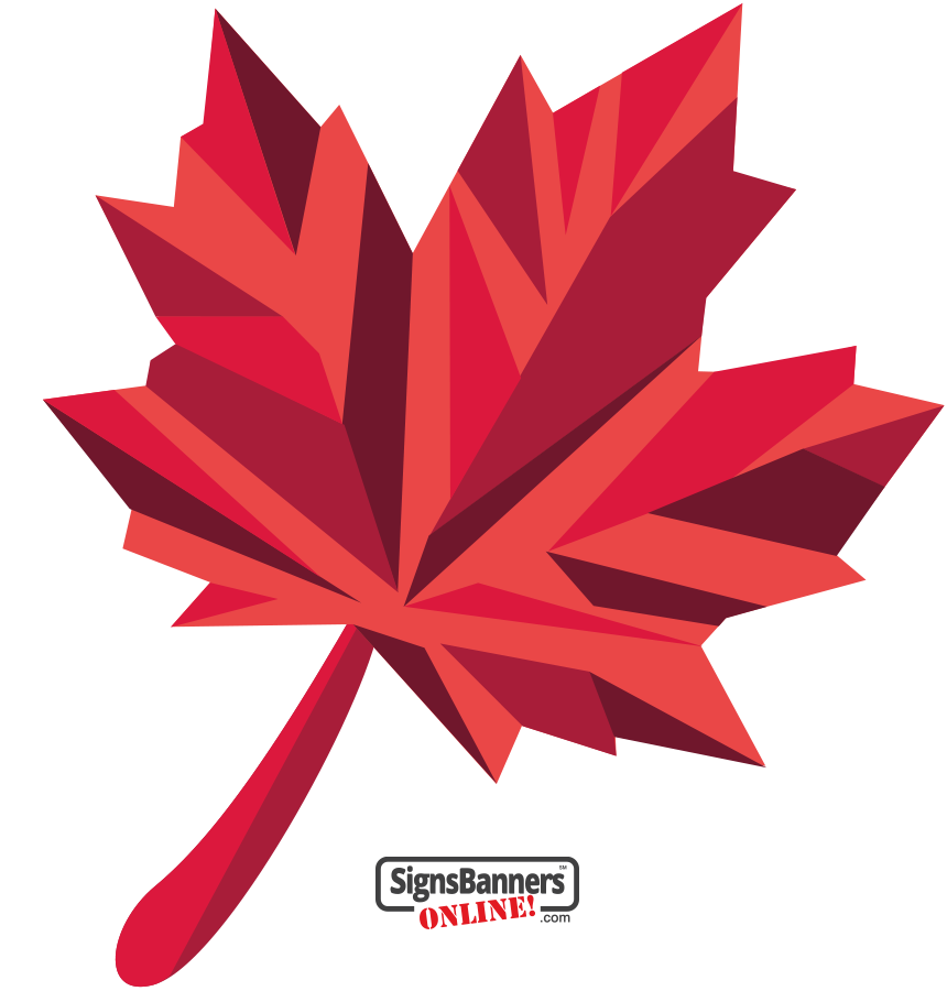 Canada Maple Leaf Design - Isolated prismatic reds