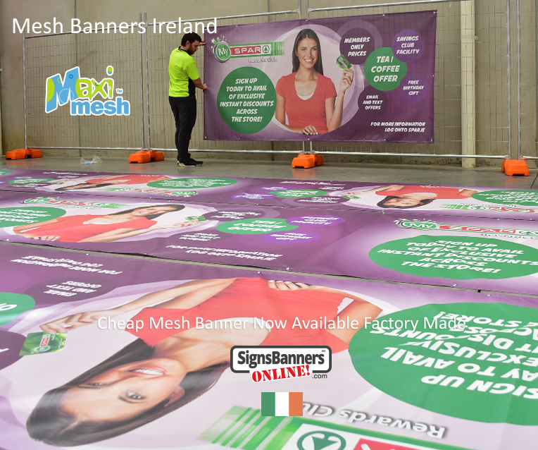 Factory made mesh banner signs IRELAND