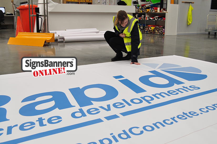 Large made to order outdoor banner pvc vinyl