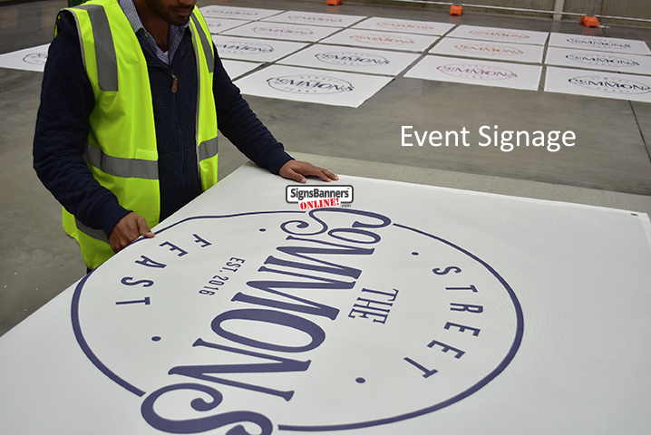 Set of event signage banners