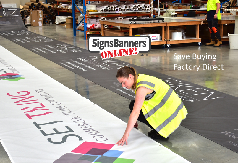 Clients like knowing the signage they order is directly from the factory