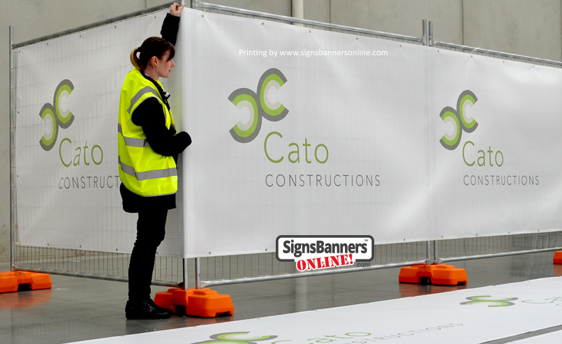 Large banner covers for site screen (Ireland Carlow)