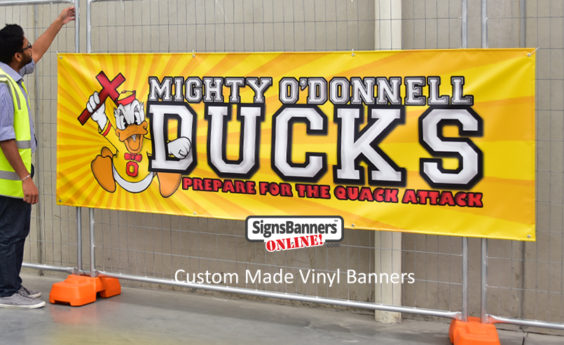 Clients like knowing the custom vinyl banners they order are from the factory