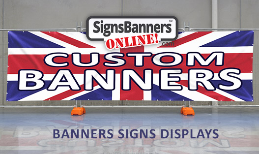 Banner signs with UK theme