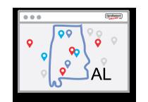 USA Alabama State Icon