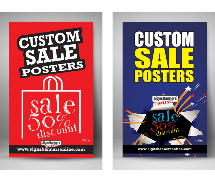 Custom Sale Posters with 50% discount