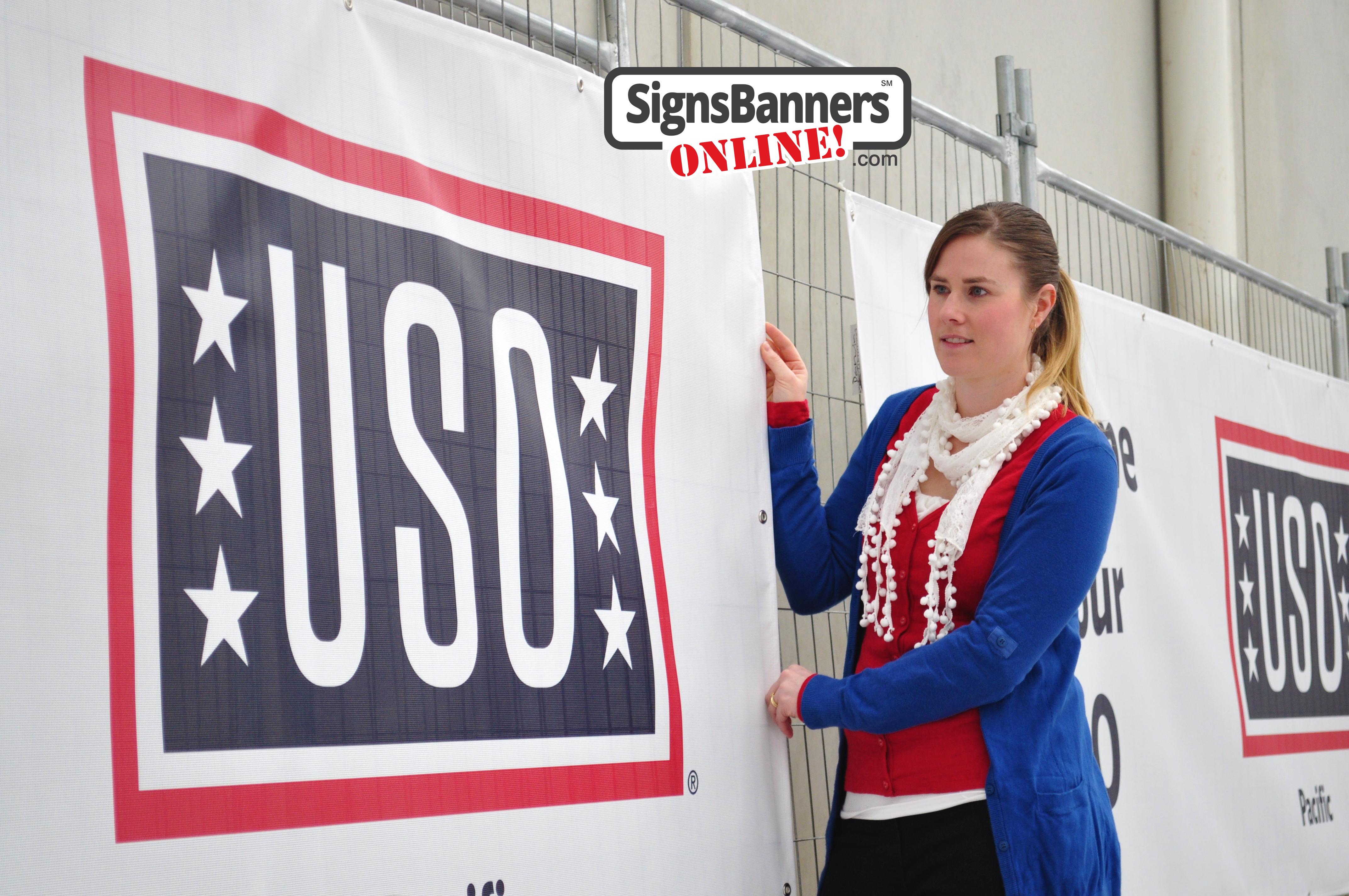 PVC mesh banner USO