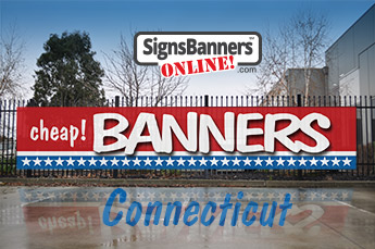 General purpose cheap banner sign with USA flag design.