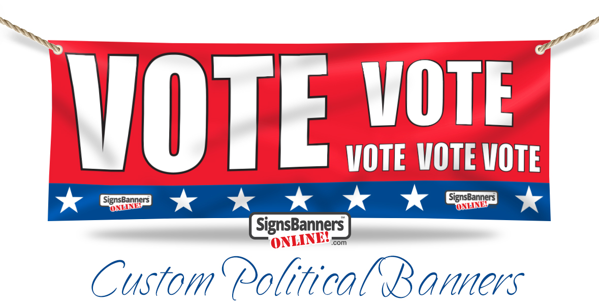 VOTE Vote Vote Custom Political Banners