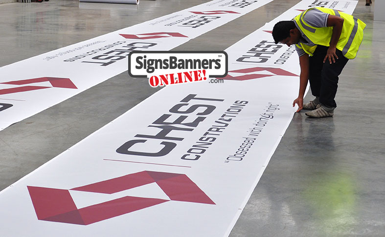 Signs Banners Online make and supply fence screen printing for privacy, site identification, branding and contractor install