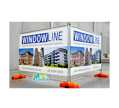 Temporary Fence Size Mesh Banners