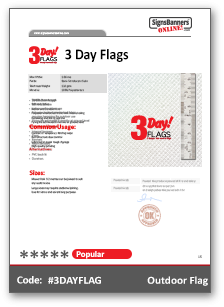 3 Day Flags Tech Sheet Data MSDS