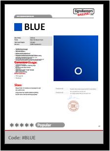 BLUE Tech Data Sheet