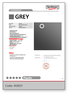 GREY Tech Data Sheet