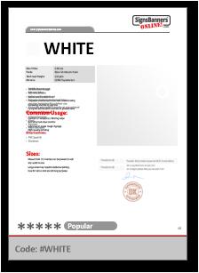 WHITE Tech Data Sheet