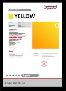 YELLOW Tech Data Sheet