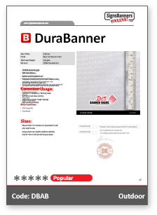 DuraBanner Tech Data Sheet