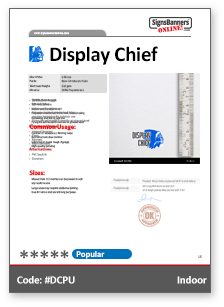 Display Chief Material Data Sheet