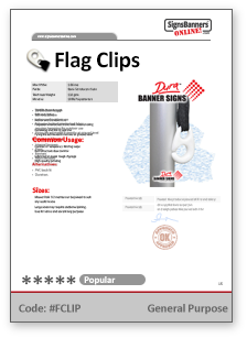 Flag Clip Tech Data Sheet