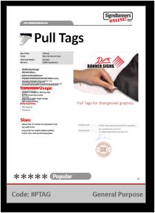 Pull Tag Tech Data Sheet