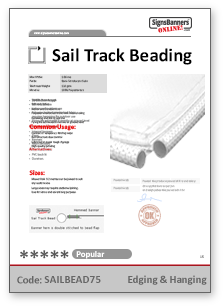 Sail Track Beading Tech Data Sheet