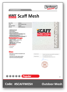 ScaffMesh Tech Data Sheet
