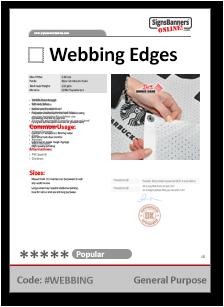 Webbing Tech Data Sheet