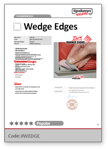 Wedge Edge Tech Data Sheet