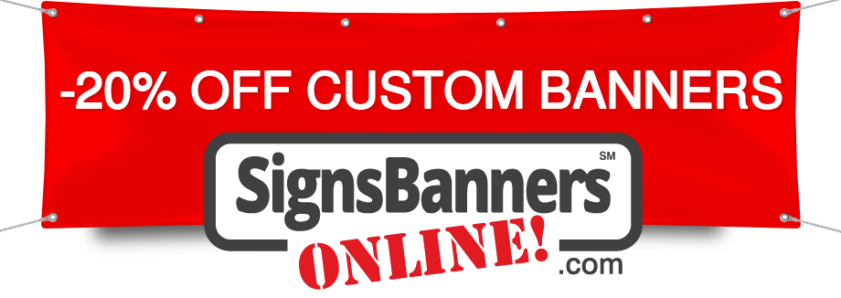 February 10% OFF Custom Banners by Signs Banners Online