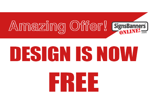 Banner Sign Design is now Free