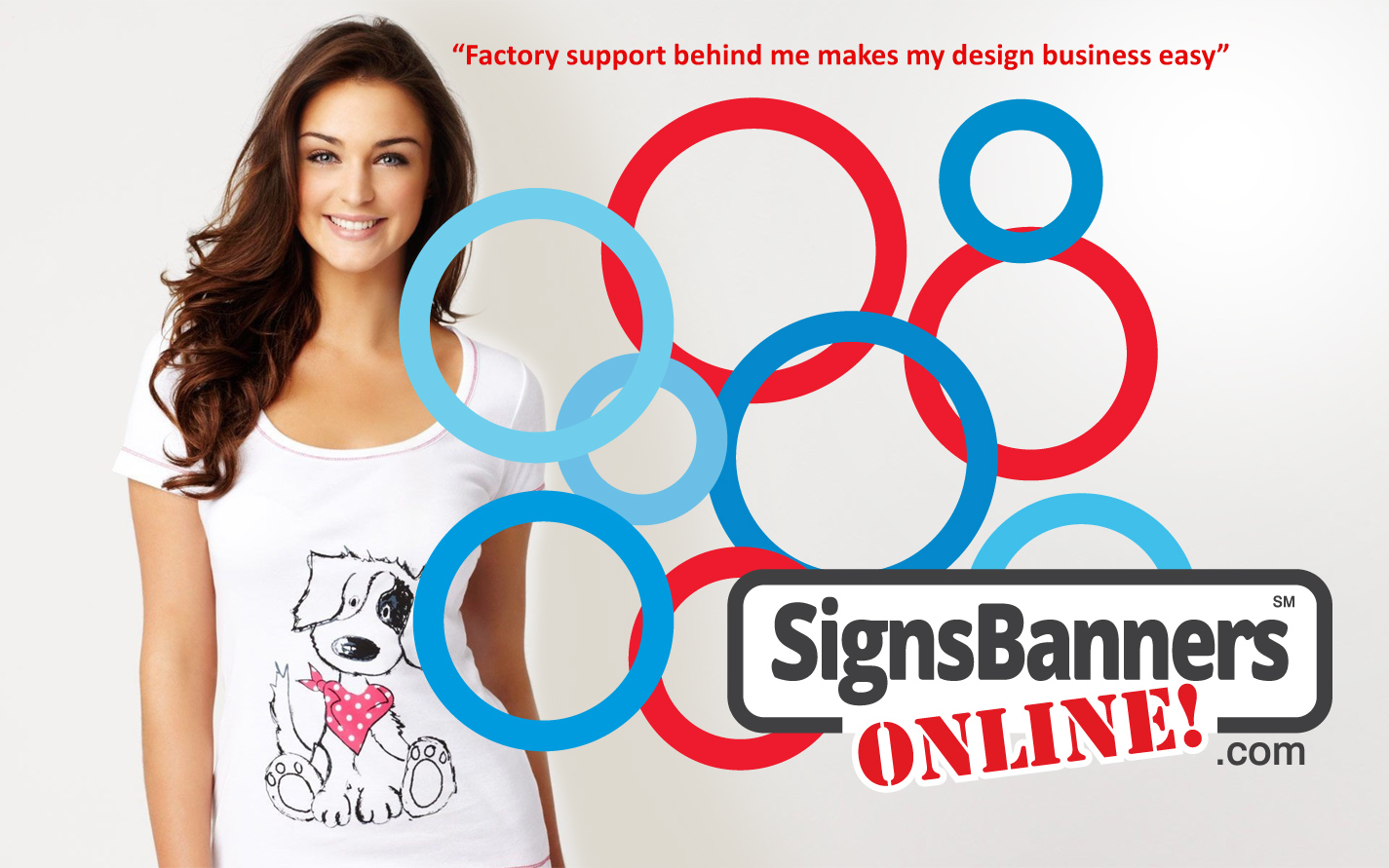 Signs Banner Online factory support behind me makes my design business easy