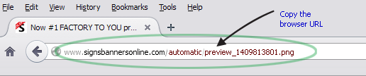 Copy the preview url and send the link to your customer