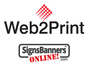 Signs Banners Online Web2Print technology