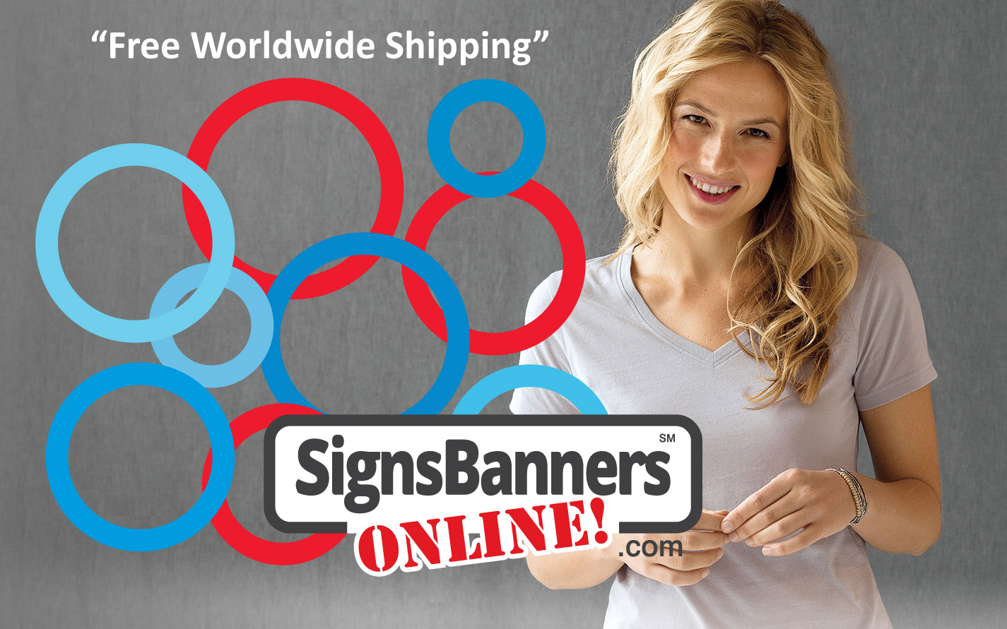 Free shipping worldwide makes it easy with Signs Banners Online
