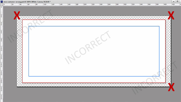 Do not extend the canvas size of your file